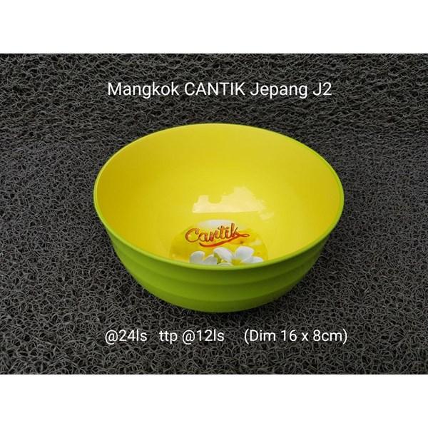 Mangkok plastik merk Cantik motif jepang