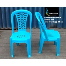 plastic dinner chair code 101 blue color brand Tai