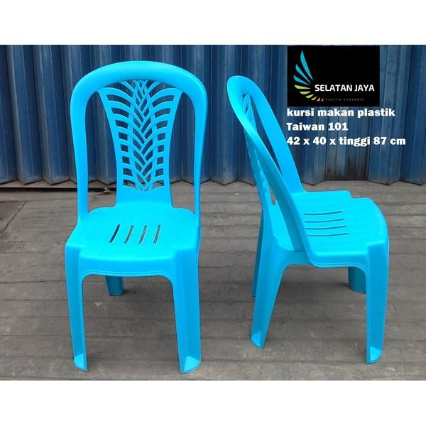 Kursi makan plastik merk Taiwan kode 101 warna biru