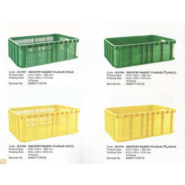 Keranjang industri krat plastik multiguna Merk Maspion Indonesia