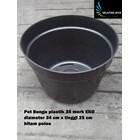 vas dan pot bunga Pot bunga plastik motif hitam polos 35 merk EKO harga murah 1