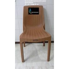 Kursi plastik anyaman Kuratsen 673 coklat Inovasi terbaru dari Napolly