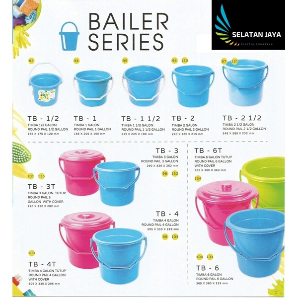 plastic bucket from small to large Neoplast factory brands
