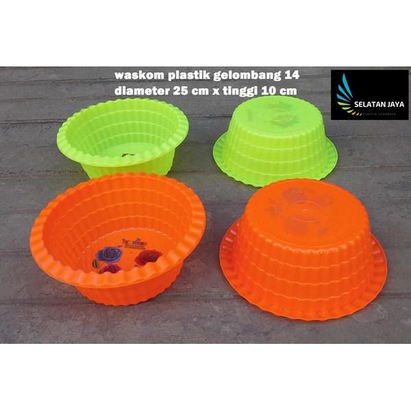 baskom plastik bulat gelombang 14 merk NS wadah selamatan