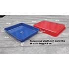 Produk Plastik Rumah Tangga Nampan Segi Plastik No 4 merk Citra warna biru dan merah 3