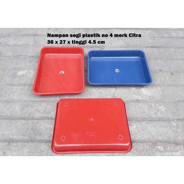 Produk Plastik Rumah Tangga Nampan Segi Plastik No 4 merk Citra warna biru dan merah