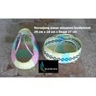 Produk Plastik Rumah Tangga Keranjang pasar anyaman tradisional plastik ukuran kecil 2