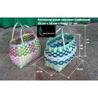 Produk Plastik Rumah Tangga Keranjang pasar anyaman tradisional plastik ukuran kecil 3