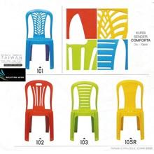 Kursi plastik sender tipe comforta merk Taiwan