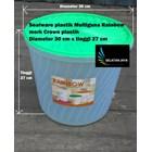 Produk Plastik Rumah Tangga Sealware plastik 16 liter atau toples plastik serbaguna Rainbow merk Crown 1