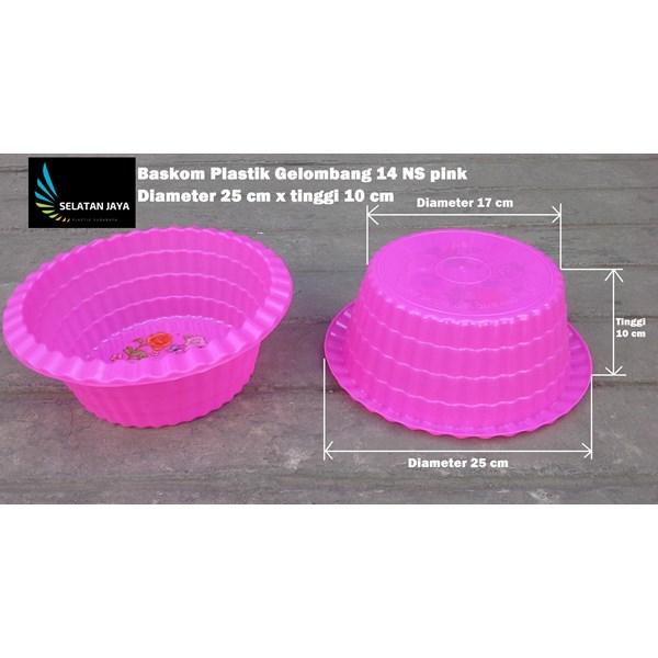 Baskom plastik gelombang 14 NS untuk acara selamatan