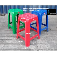 Kursi Plastik Bangku baso merah hijau biru merk Skyplast