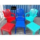 Kursi Plastik Kursi plastik 809 ada sandaran tangan dan meja catur merk Napoli 1