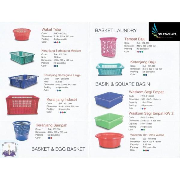 Produk Plastik Rumah Tangga Katalog produk basket plastik merk TMS