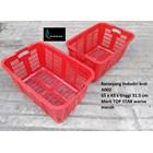 Keranjang Plastik  Industri krat lubang A002 merah merk TOP STAR 1