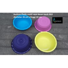 Baskom plastik motif rajut besar merk HLD waskom selamatan