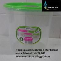 Distributor Toples plastik sealware 5 liter CORONA merk Taiwan kode TA 005 3