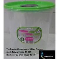 Toples plastik sealware 5 liter CORONA merk Taiwan kode TA 005 1