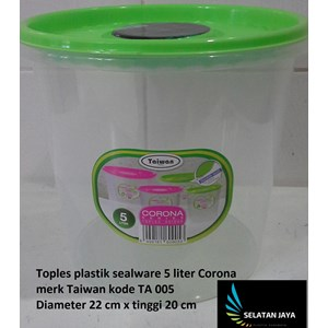Toples plastik sealware 5 liter CORONA merk Taiwan kode TA 005