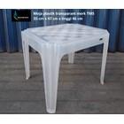Meja plastik plastik transparant merk TMS 3