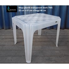 Transparent plastic table TMS brand