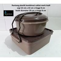 Distributor Produk Plastik Rumah Tangga Rantang plastik untuk selamatanwarna coklat merk Audi 3