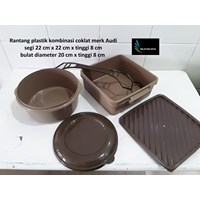 Jual Produk Plastik Rumah Tangga Rantang plastik untuk selamatanwarna coklat merk Audi 2