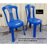 Kursi plastik Lotus kode K2 warna biru merk Neoplast 1