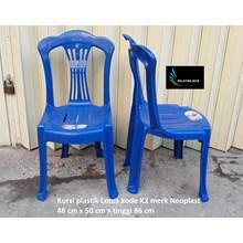 Kursi plastik Lotus kode K2 warna biru merk Neopla
