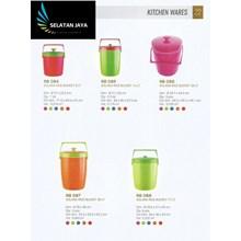 Produk Plastik Rumah Tangga tempat nasi plastik atau rice bucket Solara merk Multiplast