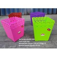 Jual Pot Bunga dan Tanaman Pot bunga segi plastik unik 5381 inovasi terbaru dari pabrik lucky star
