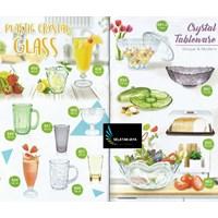 Gelas Plastik kristal dan cyrstal tableware merk golden dragon melamine
