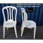 White plastic dining chair Taiwan brand 3