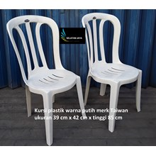 White plastic dining chair Taiwan brand