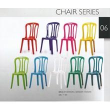 Kursi Plastik Kursi makan plastik warna putih merk Taiwan