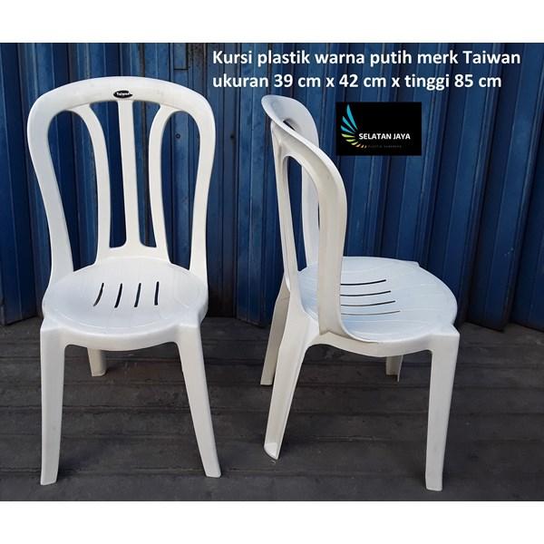 White plastic dining chair Taiwan brand