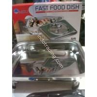 Dari Tempat Prasmanan Segi Stainless Steel Merk Fast Food Dish 0