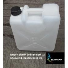 Jerigen plastik 20 liter merk ga warna putih