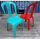 Kursi plastik kode 101 F merk Napolly warna hijau merah 1
