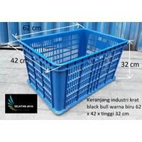 Keranjang plastik industri lubang tebal harga murah black bull
