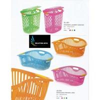 Keranjang pakaian plastik linea dan laundry basket diamond merk Taiwan