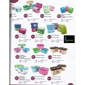Kotak Makan Box plastik untuk selamatan berkatan merk Lucky Star