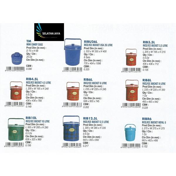 Jual Rantang Tempat nasi Es plastik atau Rice bucket merk Global Eagle.