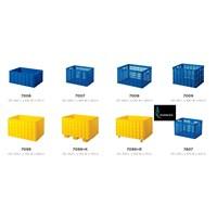Keranjang plastik container industri krat besar merk Rabbit