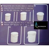 Pail plastik kosong wadah cat cairan kimia non korosif merk JL