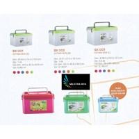 Estimasi box plastik tempat hadiah merk Multiplast