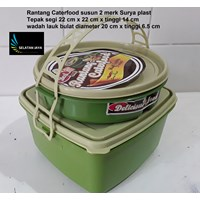 Rantang plastik caterfood susun 2 merk Surya plast