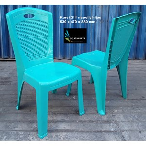 Napoli plastic chair code 211 green