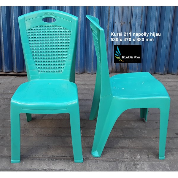 Kursi plastik Napoli kode 211 warna hijau