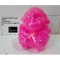 Celengan plastik model gorila merk Ikimura